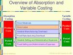 overview of absorption and variable costing6