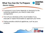 what you can do to prepare electric utilities