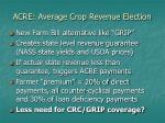 acre average crop revenue election