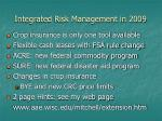 integrated risk management in 2009