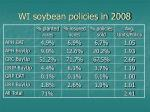 wi soybean policies in 2008