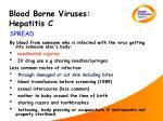 blood borne viruses hepatitis c