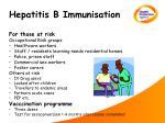 hepatitis b immunisation