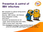 prevention control of bbv infections
