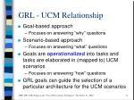grl ucm relationship