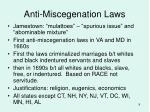 anti miscegenation laws