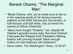 barack obama the marginal man
