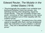 edward reuter the mulatto in the united states 1918