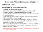 basic data mining techniques chapter 3