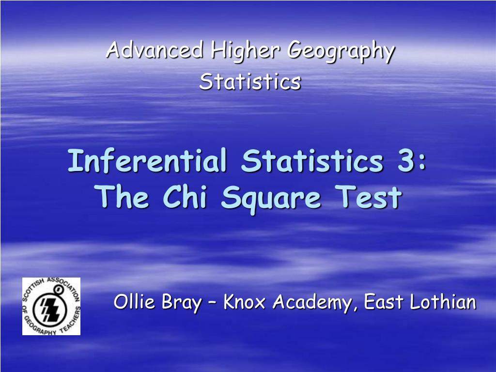 advanced higher geography statistics l.
