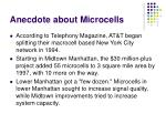 anecdote about microcells