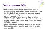 cellular versus pcs
