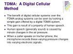 tdma a digital cellular method