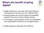 what s the benefit of going digital