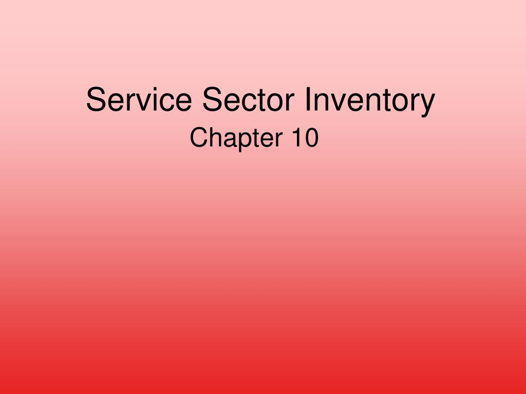 service sector inventory l.