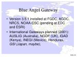 blue angel gateway