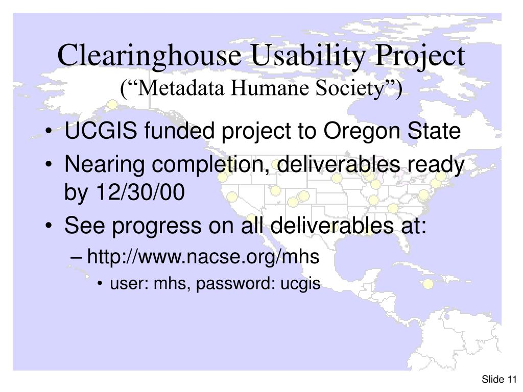 Clearinghouse Usability Project