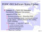 fgdc iso software status update