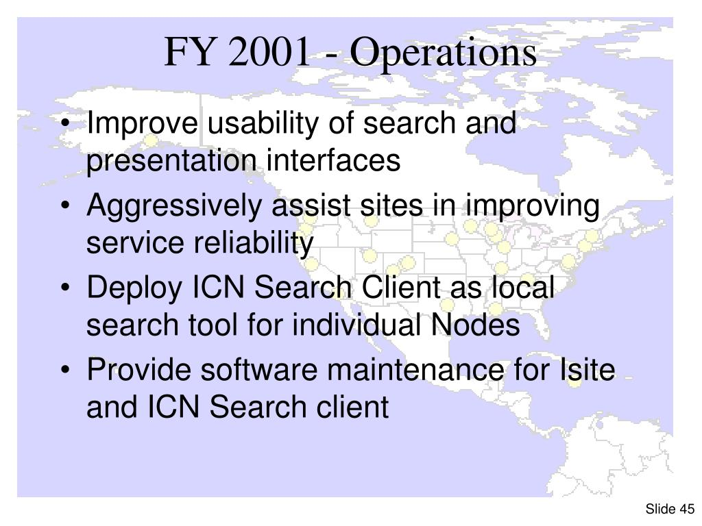 FY 2001 - Operations