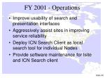 fy 2001 operations