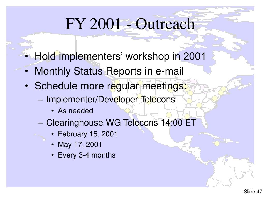 FY 2001 - Outreach