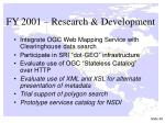 fy 2001 research development