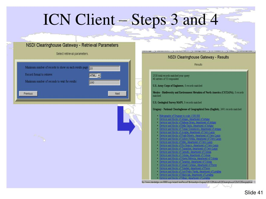 ICN Client – Steps 3 and 4