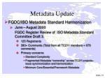 metadata update