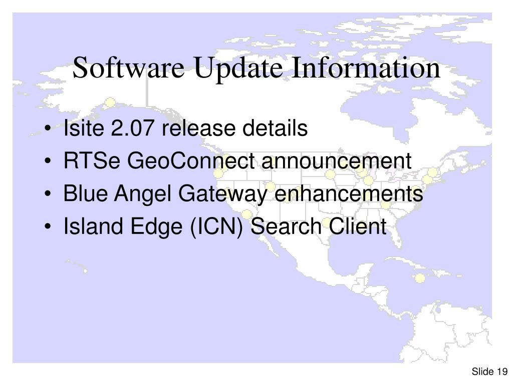 Software Update Information