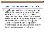 history of the mvcp con t11