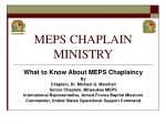 meps chaplain ministry