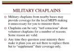 military chaplains