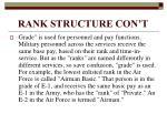 rank structure con t