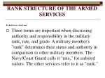 rank structure of the armed services