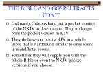 the bible and gospeltracts con t