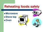 reheating foods safely