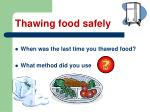 thawing food safely