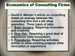 economics of consulting firms