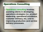 operations consulting