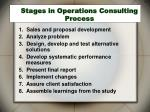 stages in operations consulting process