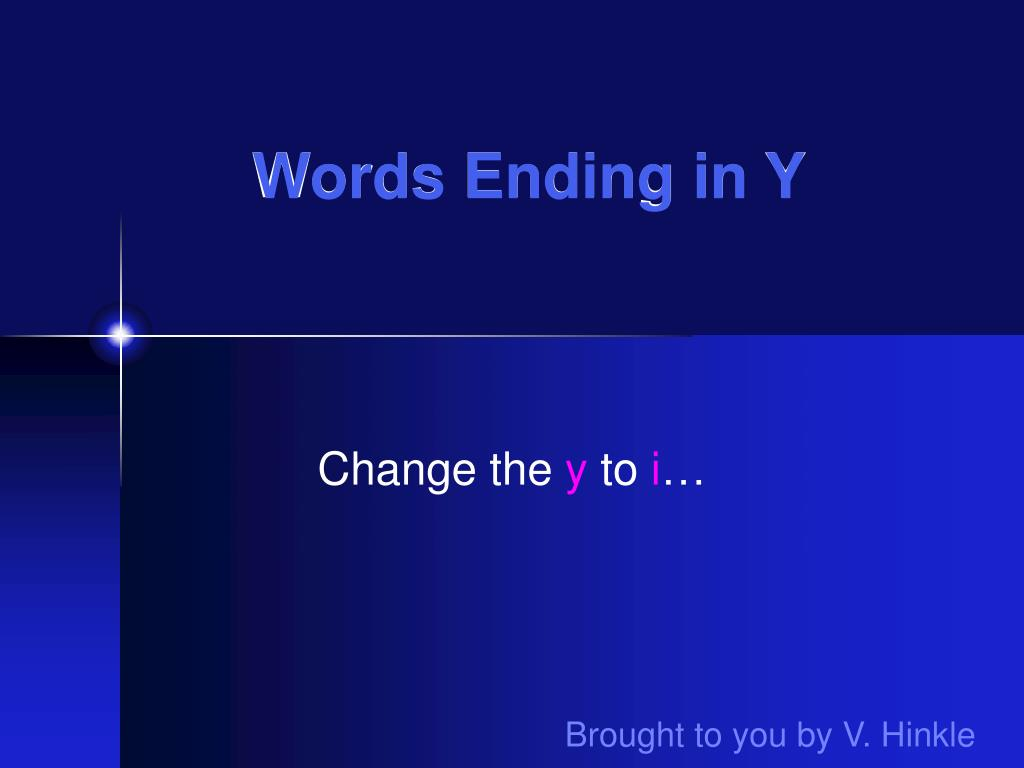 words ending in y l.