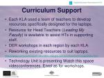 curriculum support