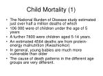 child mortality 1