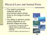 physical laws and animal form