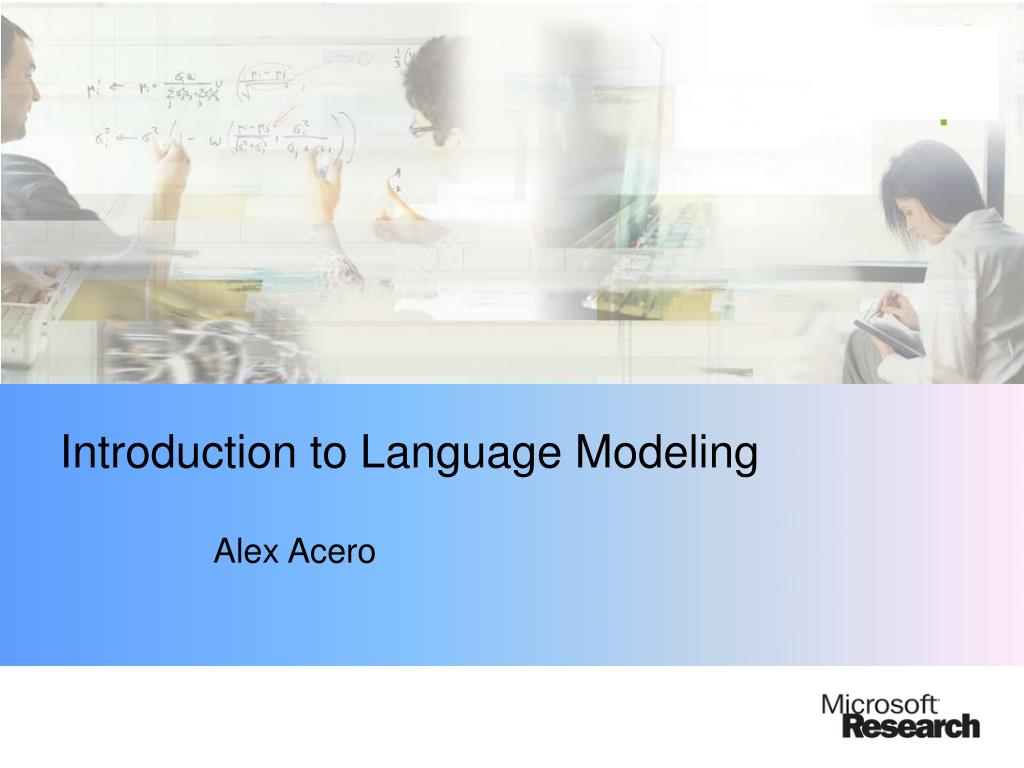 introduction to language modeling l.