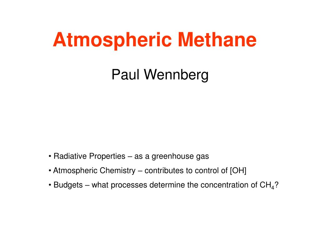 atmospheric methane l.