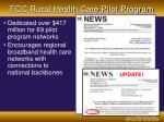 fcc rural health care pilot program