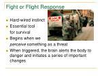 fight or flight response