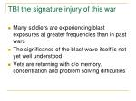 tbi the signature injury of this war