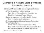 connect to a network using a wireless connection cont d56